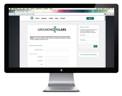 Groundwork Labs Apply