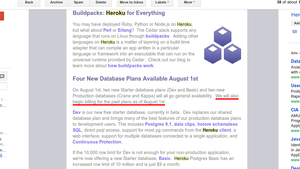 Heroku July newsletter | Smashing Boxes Blog