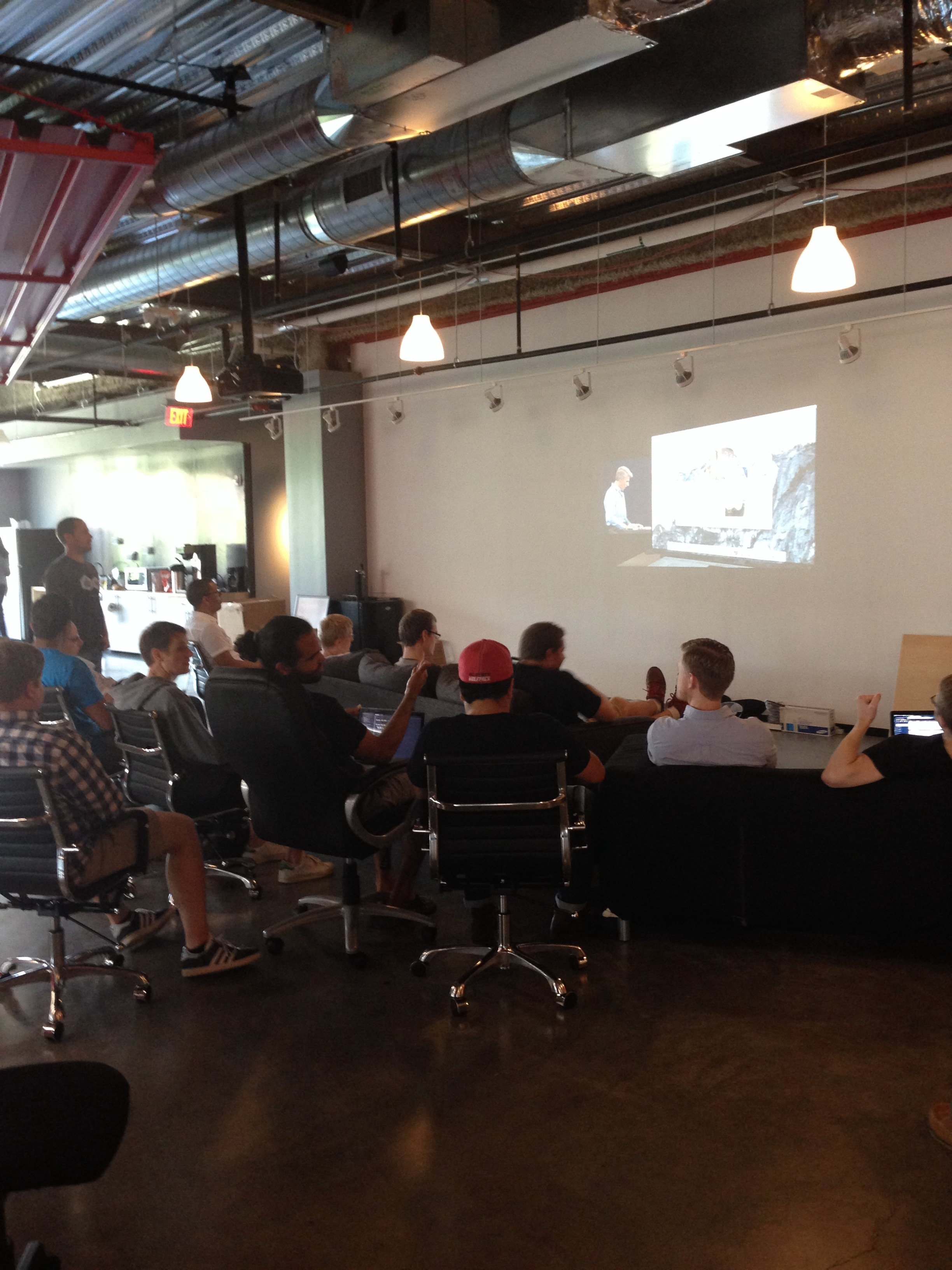 Developers watching WWDC14 | Smashing Boxes Blog